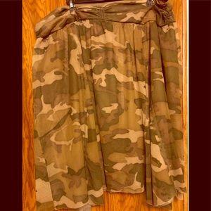 Exhilaration Sz XXL (2xl) Camouflage Print Skirt